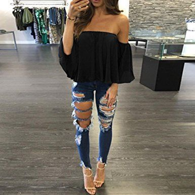 30+ Examples How to Wear Off The Shoulder Tops | Cute casual .