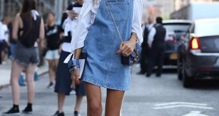 15 Youthful & Stylish Denim Overall Dress Outfit Ideas - FMag.c
