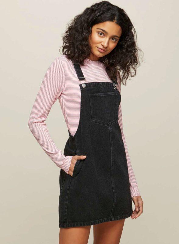 Black Denim Pinafore Dress | Missselfridge • Giftry wish list .