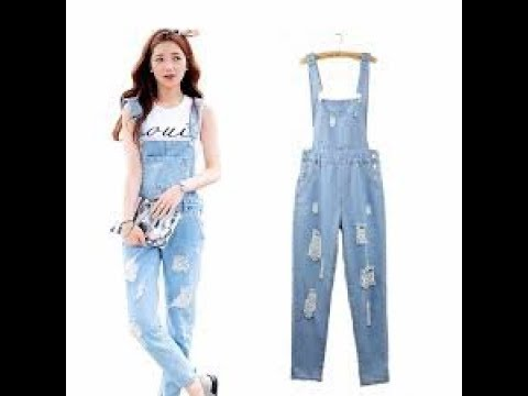 Distressed Denim Jumpsuit And Romper Outfit Ideas - YouTu