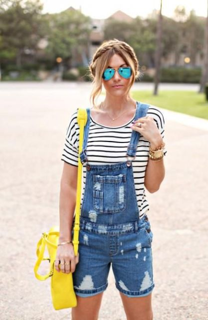 18 Distressed Denim Jumpsuit And Romper Outfit Ideas - Styleohol