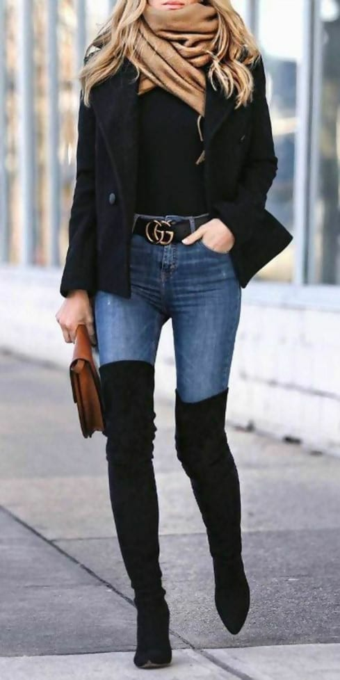 40 Thigh High Boots Outfit Ideas That Are Easy to Co