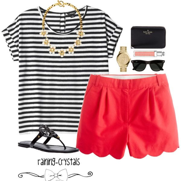 Striped and Scalloped | Chic summer outfits, Preppy outfits, Fashi