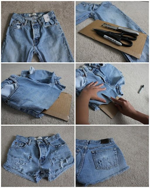 Ideas for Cute DIY Jean Shorts | Diy distressed jeans, Diy ripped .