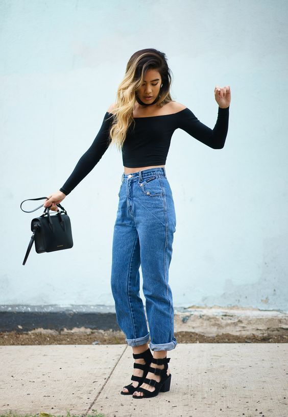Mom Jeans: Where to Find Them and How to Wear Them | Mom jeans .