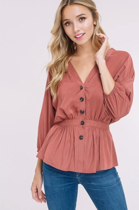 Cute As A Button Top | Tops, Fall transition outfi