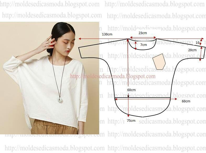 dolman sleeve top | Fashion sewing, Sewing top, Diy fashi
