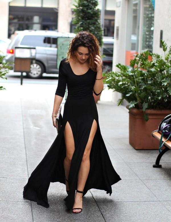 Double slit maxi dress   Styles Week