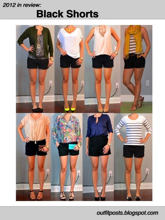 2012 in Review | Black shorts outfit, Short outfits, Outfit pos