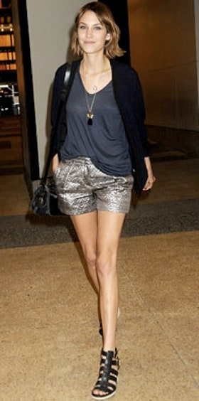 Cute Outfit Idea Of The Day: Alexa Chung's Take On Dressy Shorts .
