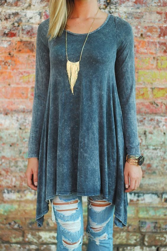 Casual and Dressy Tunic Tops for Everyday Wear | Fashion, Style .