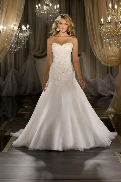 Bridal Inspiration: Lace Wedding Dresses | Drop waist wedding dre