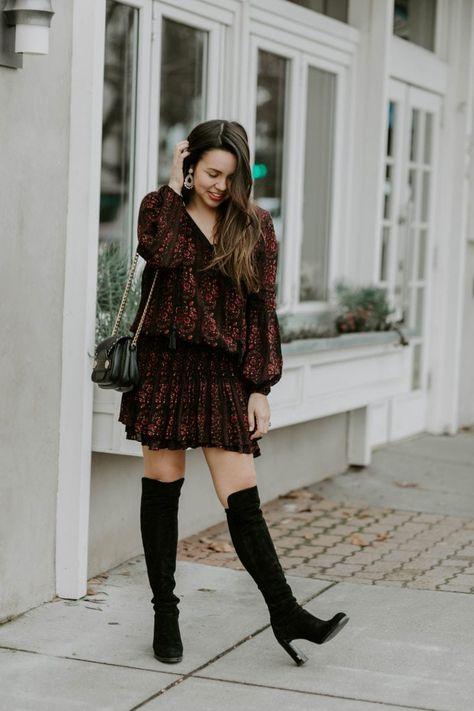 Flowy Drop Waist Dress + Giveaway | Winter dress outfits, Winter .