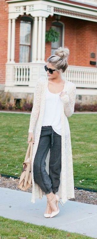 30 Lovely Cardigan Outfit Ideas This Winter | Long cardigan outfit .