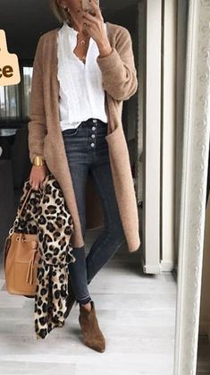 97 Best Long cardigan outfits images in 2020 | Outfits, Cardigan .