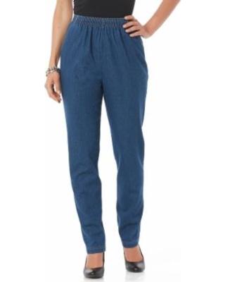 Amazing Deal on Laura Scott Women's Elastic Waist Jeans - Medium .