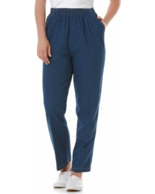 Here's a Great Deal on Laura Scott Petite's Elastic Waist Jeans .