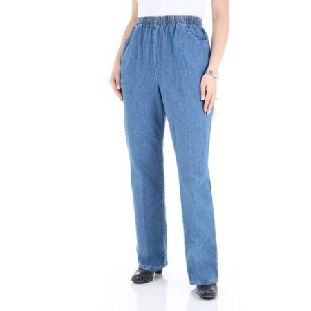 Clothing | Elastic waist pants, Women, Petite jea