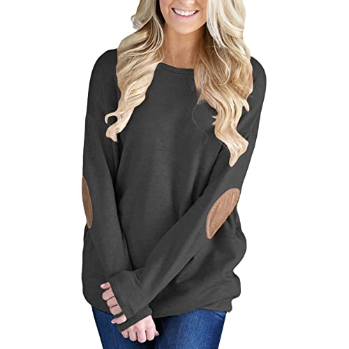 Elbow Patch Sweater for Women: Amazon.c