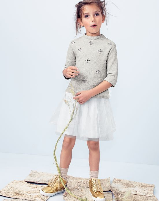 NOV '14 Style Guide: J.Crew girls embellished sweatshirt dress and .