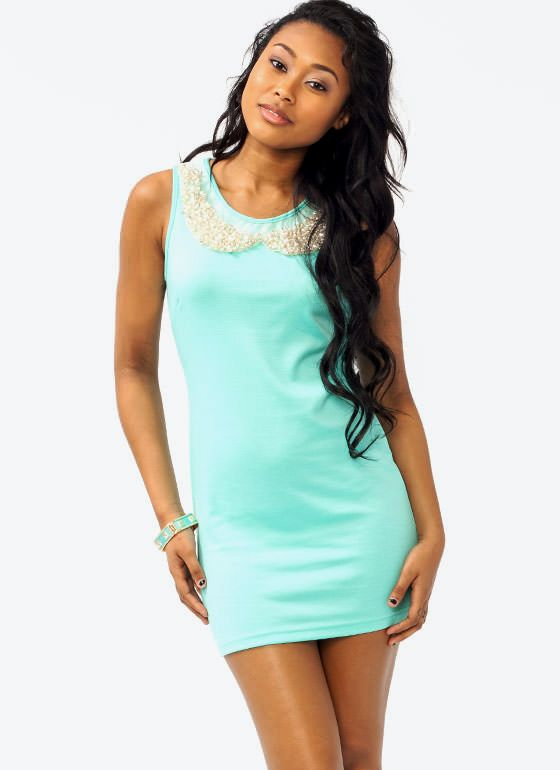 Pearl Embellished Dress $9.95 | Embellished dress, Fashion, Mini dre