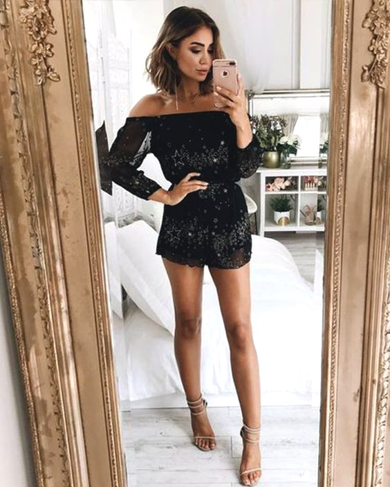 black-sequin-embellished-playsuit-outfit-ideas-new-year-party .