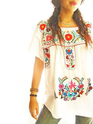 My Current Obsession: Embroidered Mexican Shirt | Mexican .
