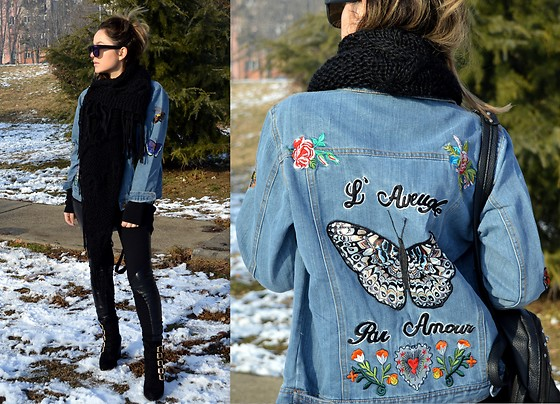 Marija M. - Sammydress Embroidered Denim Jacket, Deichmann Boots .