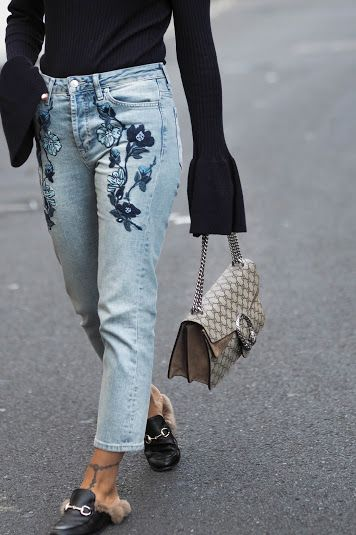 TWO WAYS TO WEAR EMBROIDERED JEANS | Embroidered jeans outfit, Fashi
