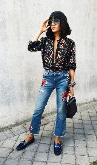 How to Wear Embroidered Jeans?16 Embroidered Jeans Outfits .