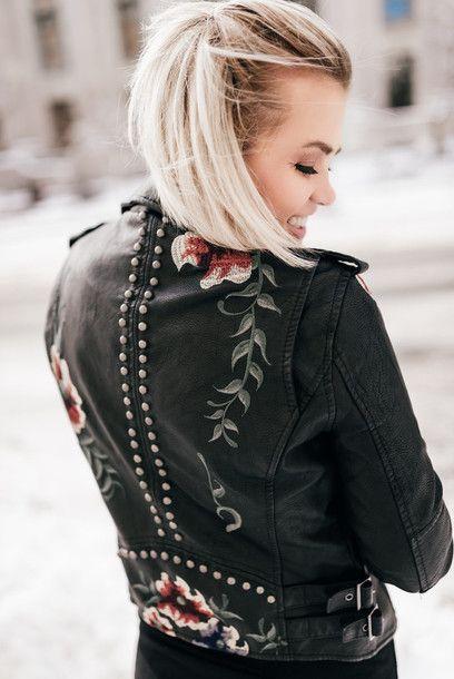 Jacket, tumblr, black jacket, black leather jacket, leather jacket .