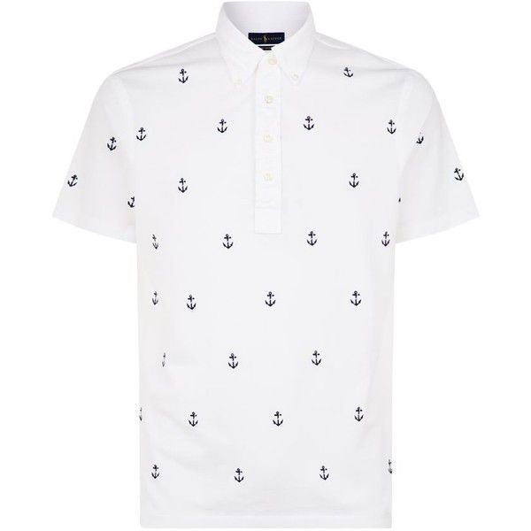 Polo Ralph Lauren Anchor Embroidered Polo Shirt ($110) ❤ liked on .