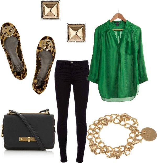 Friday's Fancies | Green shirt outfits, Green top outfit, Blouse .