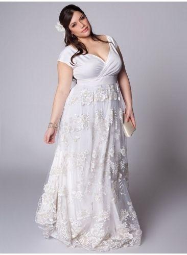 Which Plus Size Empire Waist Dress | Casual beach wedding dress .