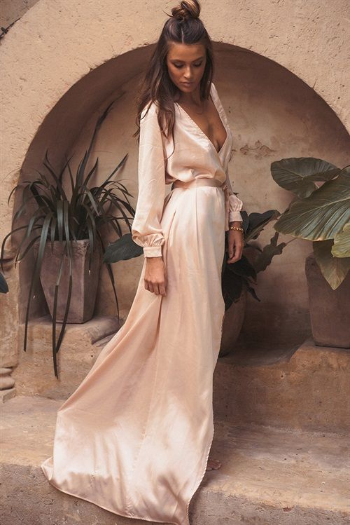 Silky Opulent Wrap Dress - Dresses | Beautiful dresses, Fashion .