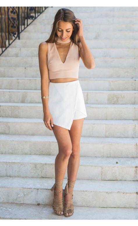 Envelope Skort White | Recruitment outfits, Clothes, Fashi