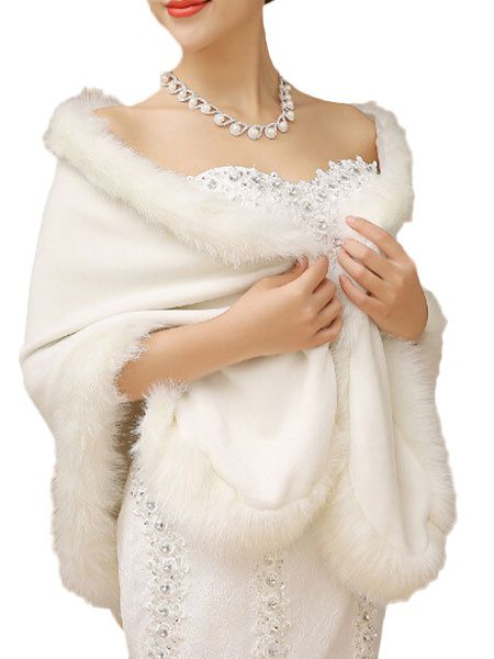 White Faux Fur Cape in 2020 | Fur cape, 20s fashion, White fur co