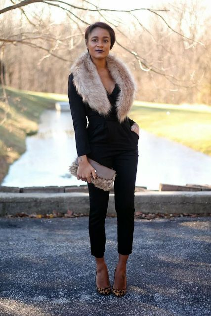 15 Fall Outfit Ideas With Faux Fur Stoles - Styleohol