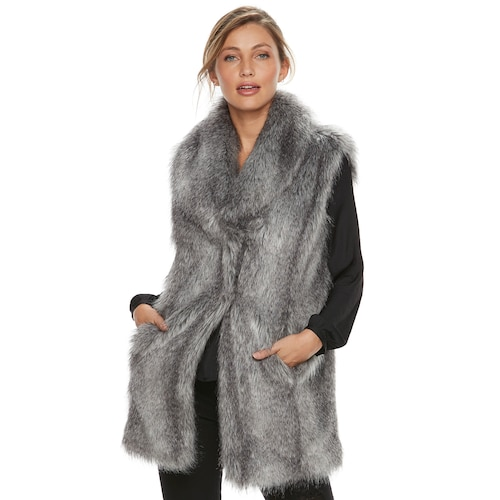 Women's Jennifer Lopez Faux-Fur Ve