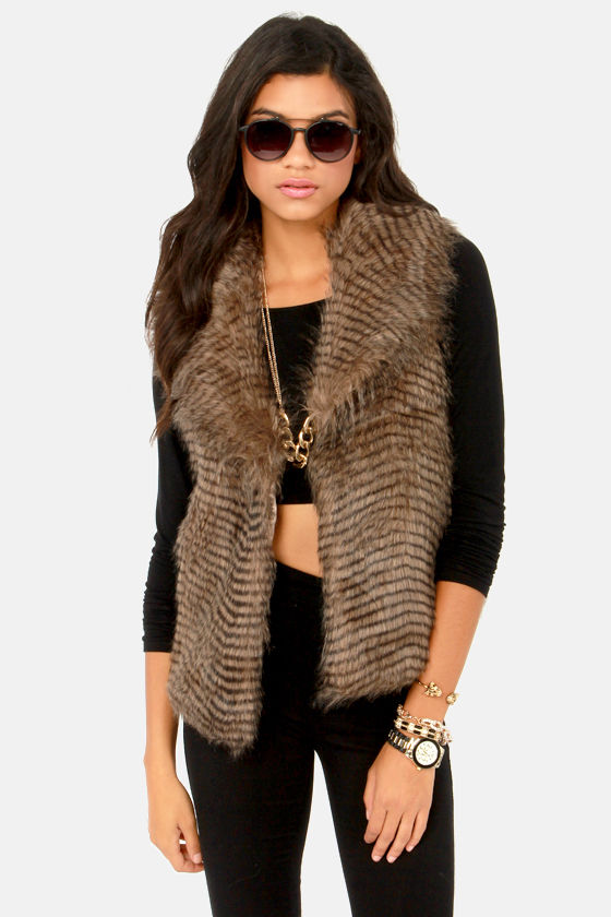 BB Dakota by Jack Davorah Vest - Faux Fur Vest - $63.
