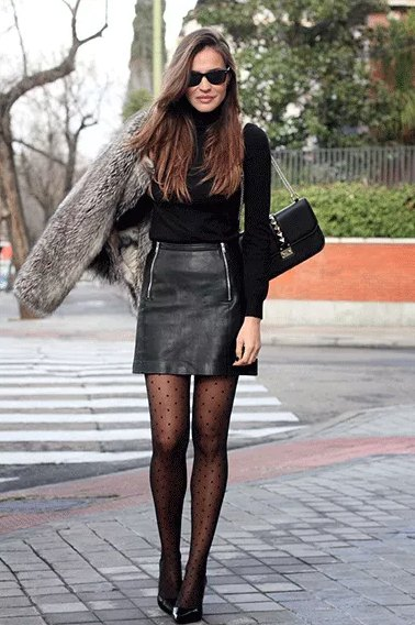 Best 15 Faux Leather Skirt Outfit Ideas for Women - FMag.c