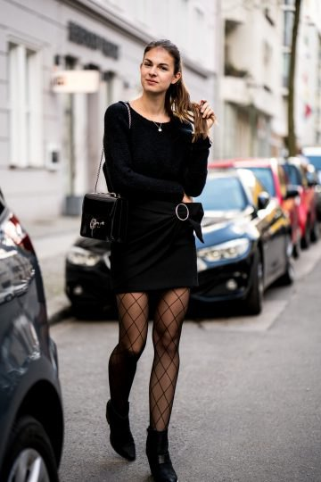 How to Wear Fishnet Tights with Class: Outfit Ideas - FMag.c