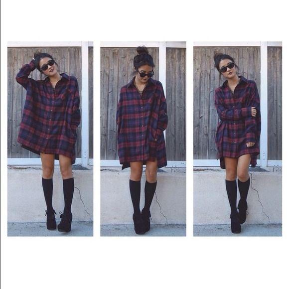 oversized flannel dress - Google Search | Flannel dress, Flannel .