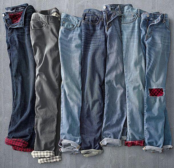 Women's Boyfriend Flannel-Lined Jeans | The ultimate jeans for .