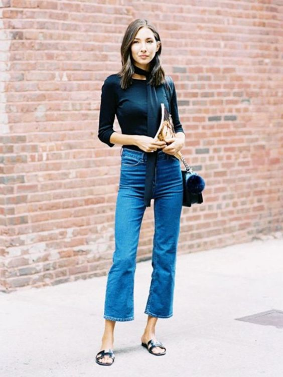 How To Style Your Flared Jeans: Best Street Style Ideas 2020 .
