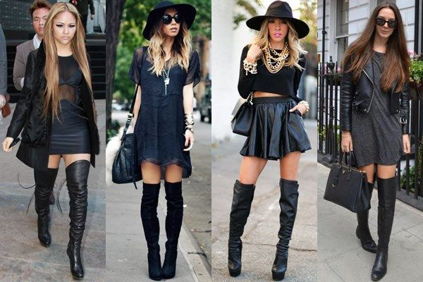 Suede Wedge Boots | Fashion, Thigh high boots outfit, Winter .