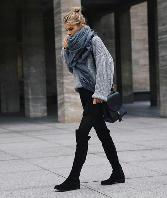 Ujsjsjhamsbk | black outfit | Fashion, Winter boots outfits .