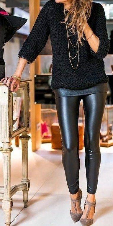 Liquid Leggings   Fashion, How to wear leggings, Sty