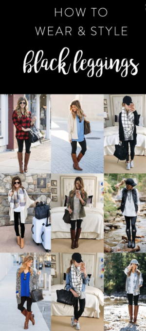 How to wear and style black leggings. fleece lined leggings deal .