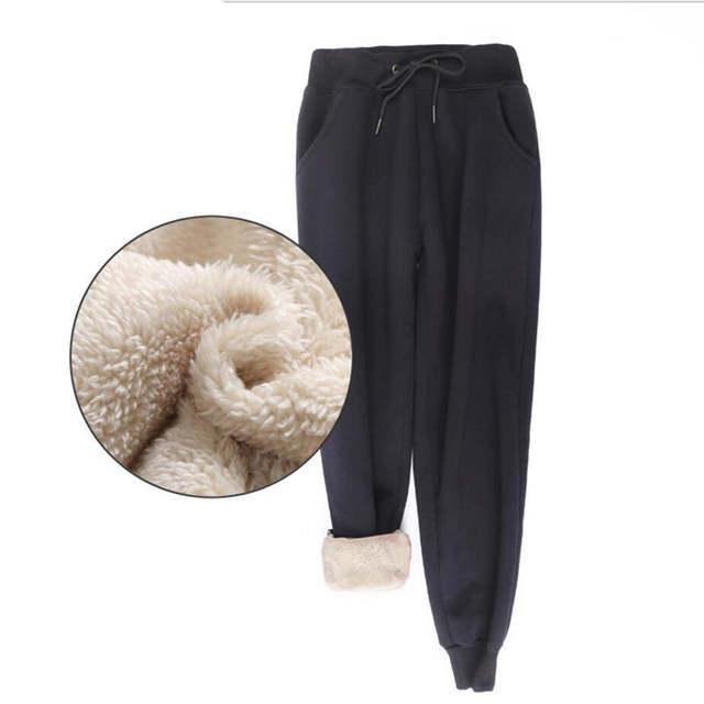 Online Shop Winter Women Fleece Pants Sweatpants Women's Casual .